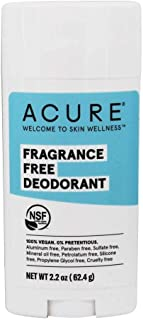 product image for ACURE Fragrance Free Deodorant | 100% Vegan | For Sensitive Skin | NSF Certified - Contains Organic Ingredients | Aluminum-Free | 2.2 Oz