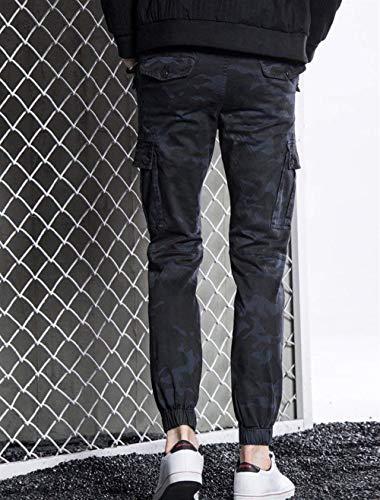 Lavoro Dunkel Giovane Uomo Pantaloni All'aperto Yasminey Blau Cargo Multiuso Mimetici Da gPTwnXWq4