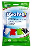 DSolve New Ultra Concentrated Laundry Detergent Strips, The Future of Laundry - Fragrance Free, 50 Loads - More Convenient than Pods, Pacs, Liquids or Powders - Great for Home, Dorm, Travel, Camping & Hand-Washing.