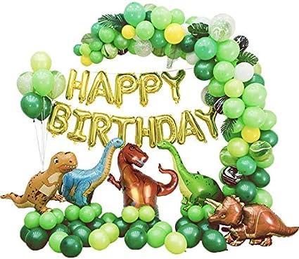 Dinosaur Foil Balloons Air Balloon Children Birthday Party T-REX RAPTOR Green Ba