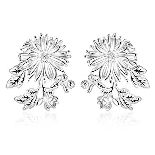 fonk: summer style silver earrings for women Dandelion drop pendientes joyas SMTE659