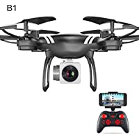 Gentman KY101 2.4GHz RC 6-axis Gyroscope Quadcopter FPV Altitude Hold with Camera Drone Headless Mode (Black:Altitude Hold WIFI)