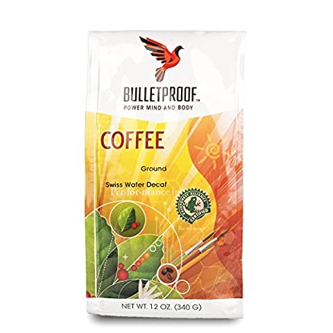 Bulletproof - The Original Ground Decaf Coffee, Upgraded Coffee Upgrades Your Day (12 Ounces) - Energy Gift Basket