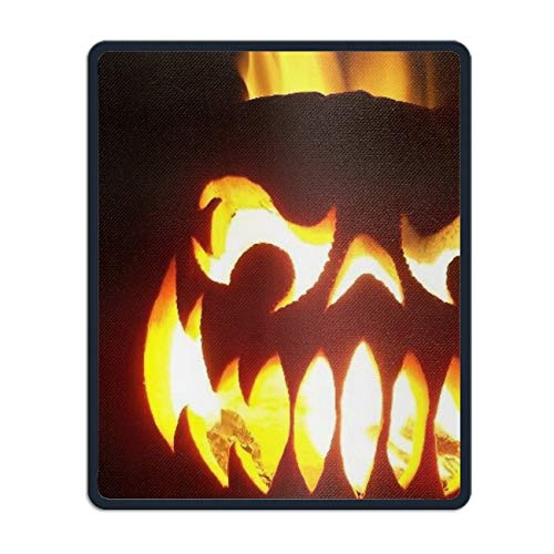 Mouse Pad UniqueHoliday Halloween Printed Mousepad Stitched Edge Non-Slip Rubber 8.66 x 7.08 inch ()