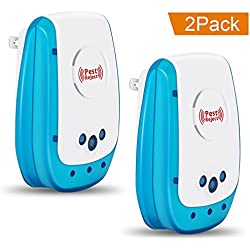 Pest Control Ultrasonic Repeller-IEKA Electronic Plug In Pest Repellent- Rats, Roaches, Spiders, Other Insects,Non-toxic Environment-friendly, Humans & Pets Safe(2 Pack)