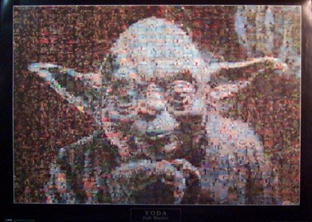 Star Wars Poster Yoda Mosaic 24 By 36