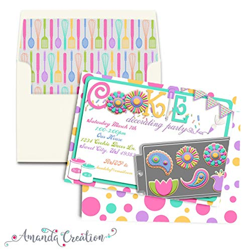 - Spring Cookie Decorating Party Invitation