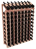 Wine Racks America Redwood 8 Column 10 Row Display Top Kit. Unstained