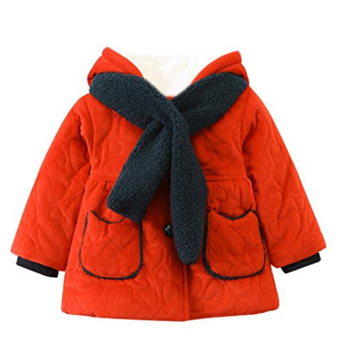 cheap Franterd Baby Toddler Boys Girls Autumn Winter Pocket Coat Jacket Hooded Thick Cloak Clothes With Warm Scarf