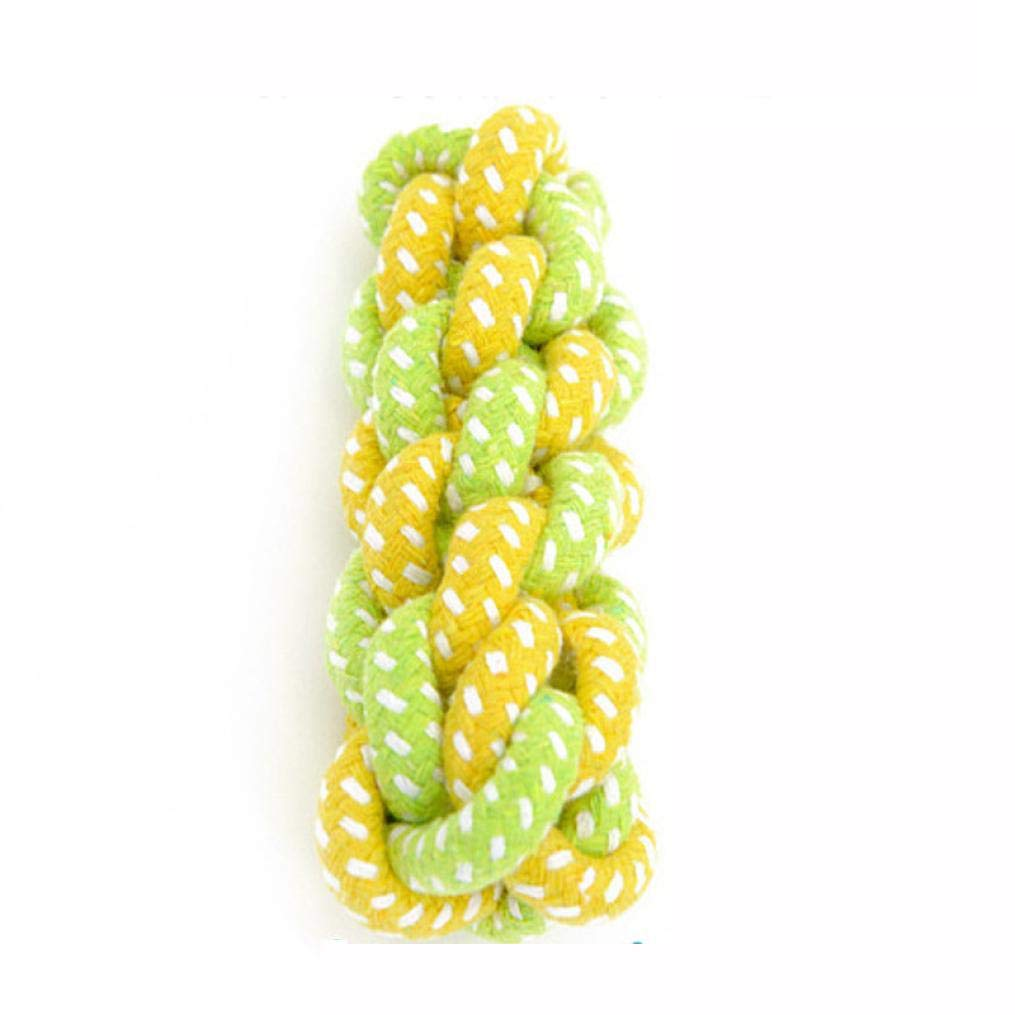 Dog Toy Dog Chews Cotton Rope Knot Ball Grinding Teeth odontoprisis Pet Toys Lar (Green, E)