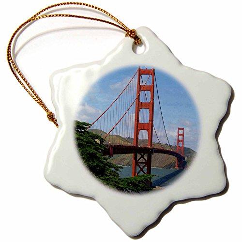 Sandy Mertens Golden Gate Bridge San Francisco Snowflake Porcelain Ornament, ()