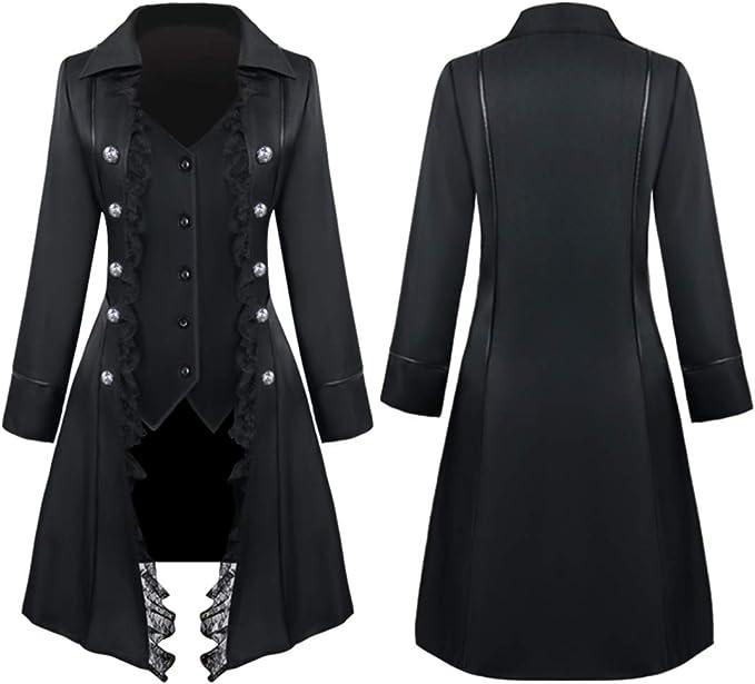 Womens Steampunk Victorian Gothic Coat Ladies Medieval Vintage Jacket Long DreDS