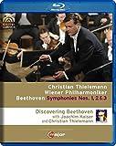 BEETHOVEN Sinfonien 1, 2 & 3 Christian THIELEMANN (+ 170 min. Doku mit Joachim Kaiser) [Blu-ray] [Reino Unido]