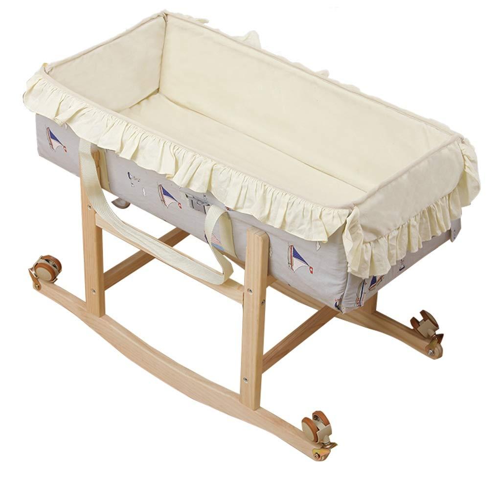 多機能ベビーコットン、新生児ポータブルアンチプレッサーベッド折り畳み式ローラースケートは、それがクレイドルベッドを移動することができます、82 * 42 * 63CM (サイズ さいず : 82*42*63CM) 82*42*63CM  B07LG6ZD6Q