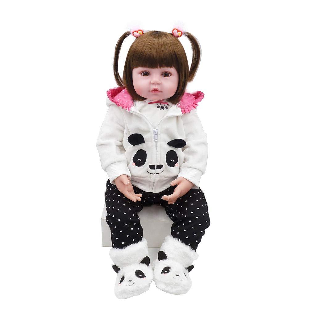Suweqi Baby-Puppen, Silikon, Babypuppe, Babypuppe, Mädchen, Babypuppe, Vinyl, 55 cm, handgefertigt, aus Vinyl, für Babys B07K8F6NRM Babypuppen Sorgfältig ausgewählte Materialien  | Haben Wir Lob Von Kunden Gewonnen