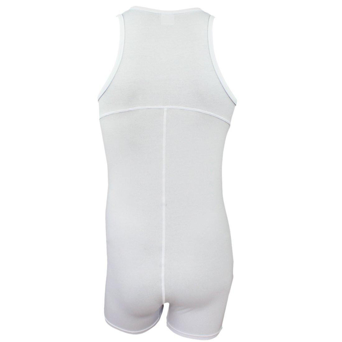 iEFiEL Mono Body para Hombre Pijamas de Dormir Algod/ón Sudaderas Deportivas sin Mangas Hombre