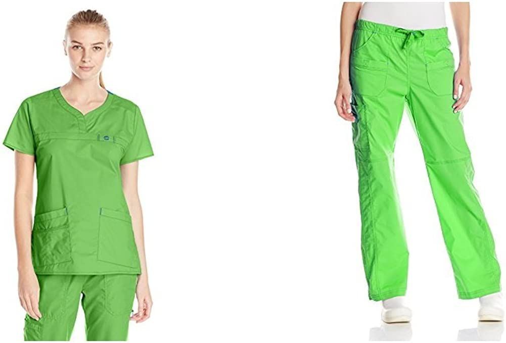 WonderWink womens Top and Bottom medical scrubs apparel sets, Green Apple, XX-Small US