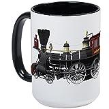 CafePress - Steam Locomotive Large Mug - Coffee Mug, Large 15 oz. White Coffee Cup