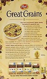 Post, Great Grains, Raisin, Date & Pecan Cereal, 16oz Box (Pack of 4)