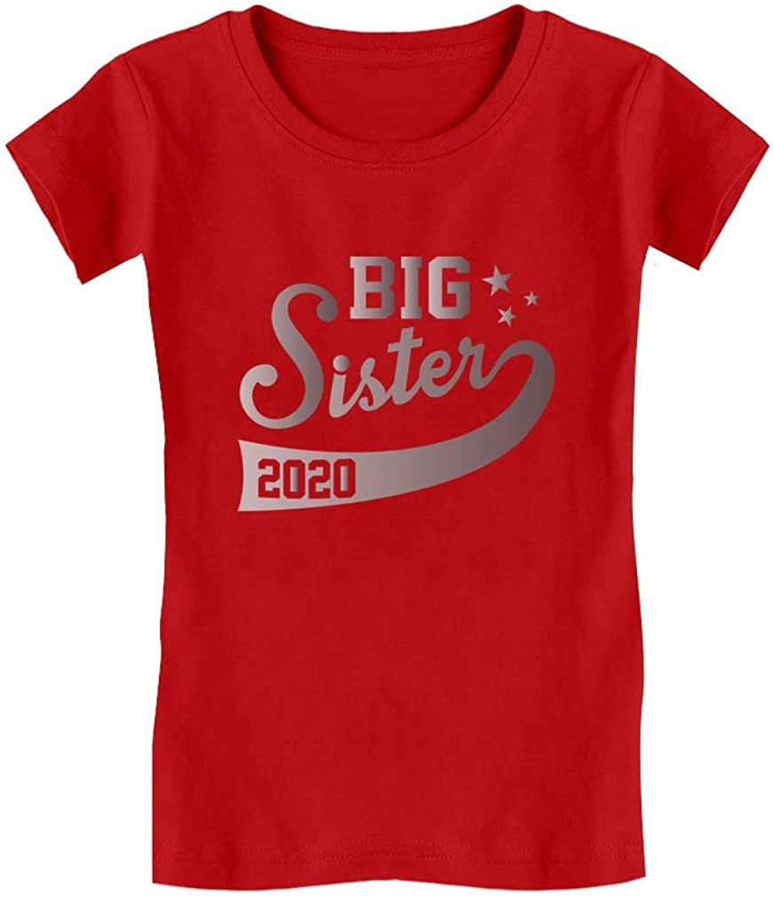 Big Sister Est 2020 Outfit Sibling Gift Idea Infant Girls Fitted T-Shirt