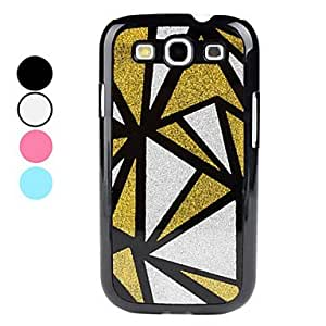 Geometric Pattern Hard Case for Samsung Galaxy S3 I9300 (Assorted Colors) --- COLOR:Black