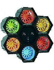 Lichtorgel McVoice, 6-kanaal, 230 V 47 LEDs/module, regelbare snelheid