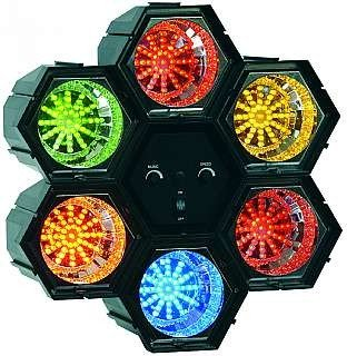 Lichtorgel McVoice, 6-Kanal, 230V 47 LEDs/Modul, regelbare Geschw.