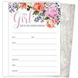 It's a Girl Baby Shower Invitations Set of 25 Fill-In...