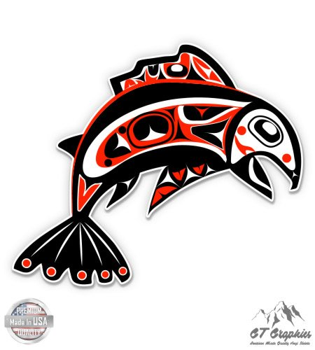 (GT Graphics Pacific Northwest Native Art Fish Tribal - 3