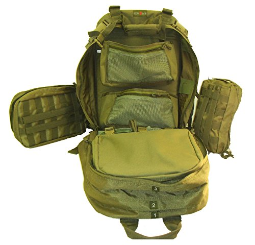 Explorer Every Day Carry Tactical Medic First Responder Backpack with Multiple Pockets (Green Color)