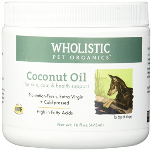 Wholistic Pet Organics Coconut Oil Supplement, 16 fl oz