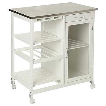 SECRET DE GOURMET Beistellwagen für die Küche mit einer Tischplatte ...