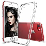 iPhone 7 Case, Ringke [FUSION] Crystal Clear PC Back TPU Bumper [Drop Protection/Shock Absorption Technology] Raised Bezels Protective Cover For Apple iPhone 7 2016 - Clear
