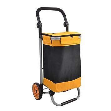 Carritos de la compra Carro de Compras Carro de Compras Plegable de Moda Carro de Compras del Viejo Hombre Carro/Carro pequeño Carro portátil Capacidad ...
