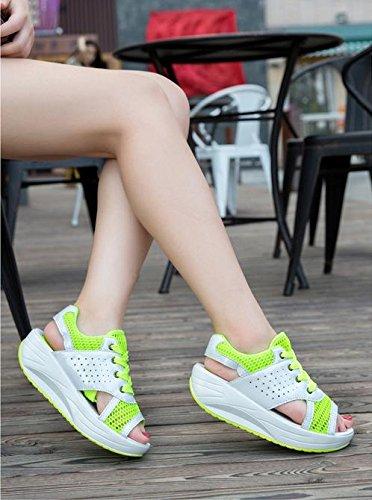 Schuhe Mesh Sandalen Neue Weibliche Sport MZG Damenschuhe Netz Freizeit Schuhe Bottom Breathable Sandalen Thick 3 Sommer Damen Schütteln F7wfwqp