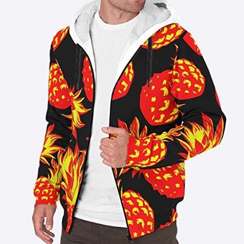 WEIFLY Mens Long Sleeve Full Zip Viking Fashion Fleece Sherpa Hooded Sweatshirt Winter Thermal Hoodie Jackets Coats S-3XL