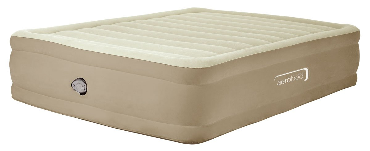 Aerobed Fast Deflation Unisex Outdoor Inflatable Bed available in Beige - King Others