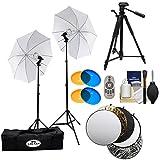Savage LED60K 500 Watt LED Studio Light Kit with 2 Lights, 2 Stands