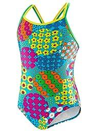 Speedo Big Girls\' 1-piece Swimsuit-Happy Flowers (12)