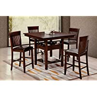 Hodedah Import 5Piece Pub Set - Cappucino