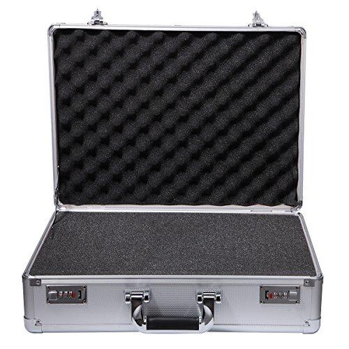 Gzyahui Aluminum Tool BoxSilverEquipmentToolCasewithPre-ScoredFoamInsert