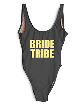Badpak Fashion.Hk One Piece Swimsuit Bride Tribe Monokini Jumpsuit Mayo Badpak