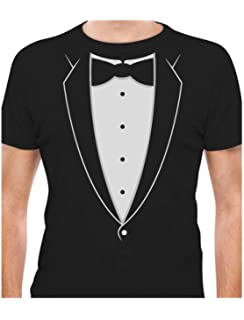 422a54e9d Amazon.com: Printed Suit & Tie Tuxedo Men's T-Shirt: Clothing