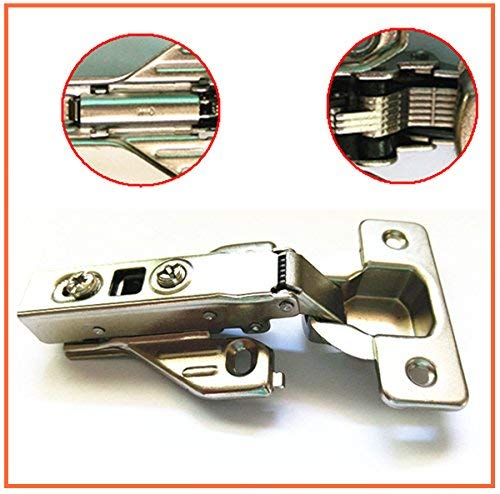 - 10 PACK European Style Hinge Full Overlay Kitchen Cabinet Hinges Soft Close 00mm Kitchen Cabinet Hardware Soft Close Hinges 110 degree Self closing Face Frame with Mounting Includes mounting screws