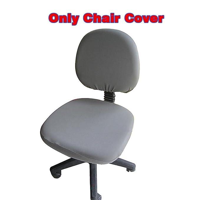 Funda de color adaptable de licra para silla de escritorio giratoria universal para ordenador y oficina de Fittoway