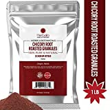 Organic Chicory Root Roasted Granules, 1 Pound Chicory Inulin Powder, Prebiotic Supplement (Dietary Fiber Supports Digestive Health) Caffeine Free, USDA Organic, Kosher