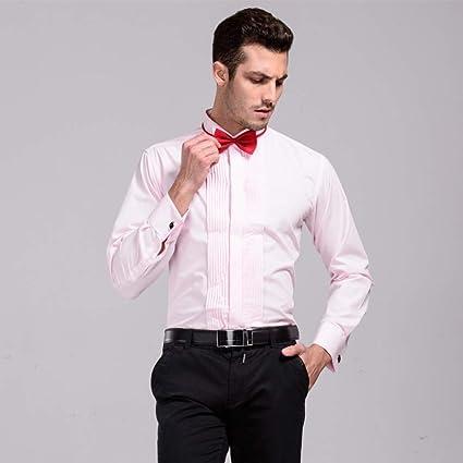 CSDM - Camisa para Hombre con Cuello de Punta de ala y Cuello ...