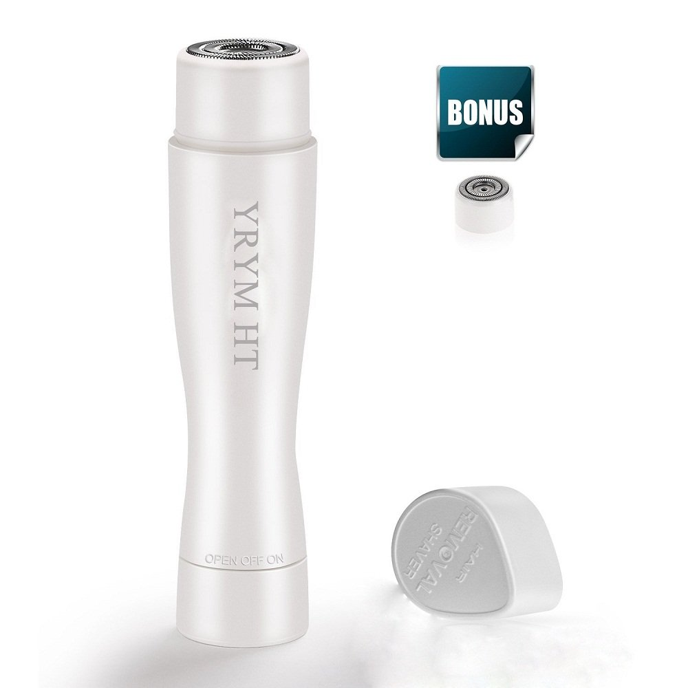 Flawless Facial Hair Remover - Portable Electric Painless Flawless Hair Remover Waterproof with Built-in LED Light YRYM HT