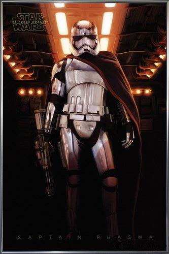 Star Wars Episode 7 Poster Captain Phasma 93x62 Cm Gerahmt In