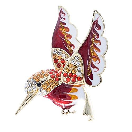 SEPBRIDALS HummingBird Bird Dress Brooch Pin Broach Rhinestone Crystal Jewelry (Hummingbird Bird Pin)